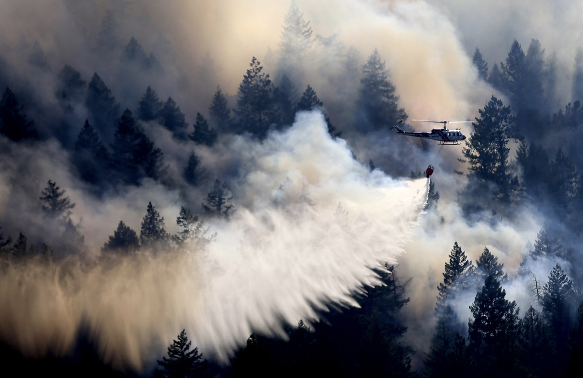 Golf Fire required evacuations near Clear Lake in Northern California