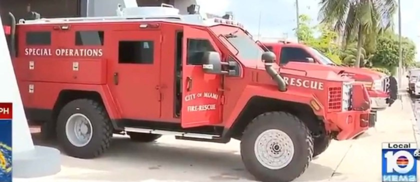 Miami fire department armored vehicle