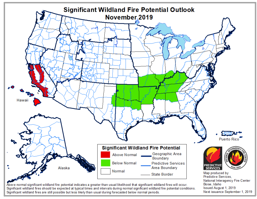 November wildfire outlook