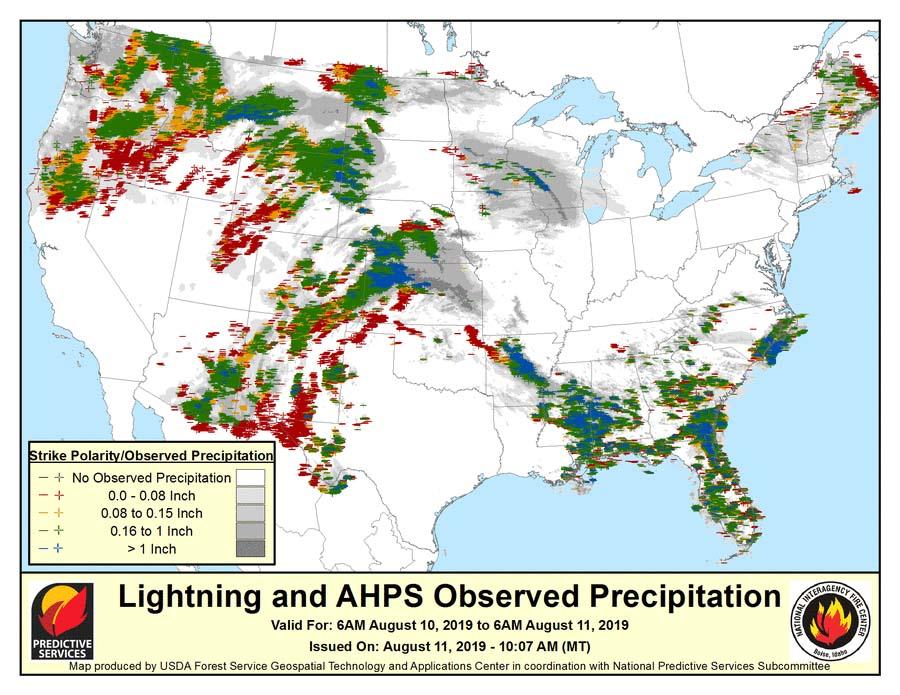 More Than 7 000 Lightning Strikes In Washington And Oregon
