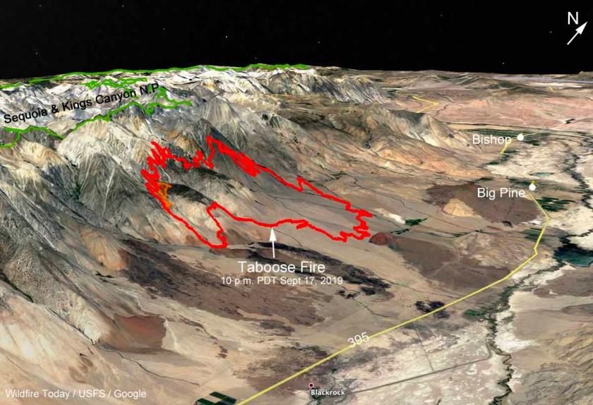 3-D map Taboose Fire