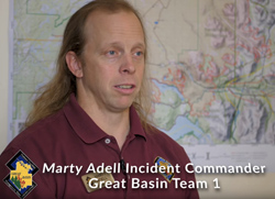 Marty Adell Incident Commander Swan Lake Fire