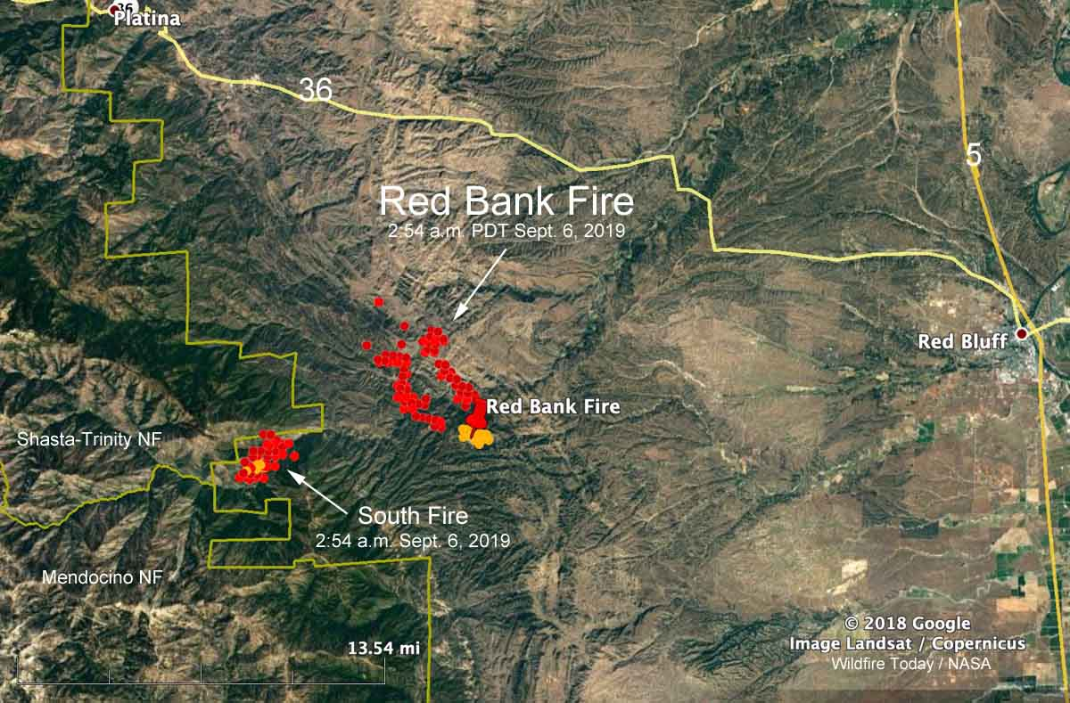 red bank fire grows quickly in northern california