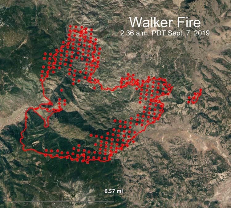 map Walker Fire california Susanville Quincy