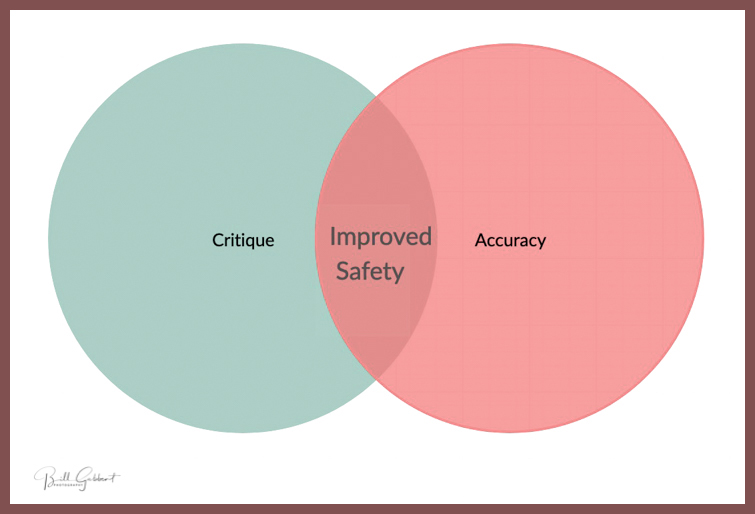 Critique vs accuracy venn diagram