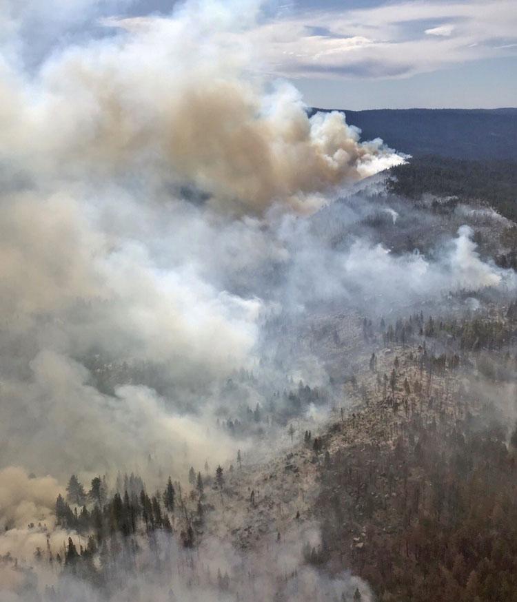 Caples prescribed fire October 7, 2019