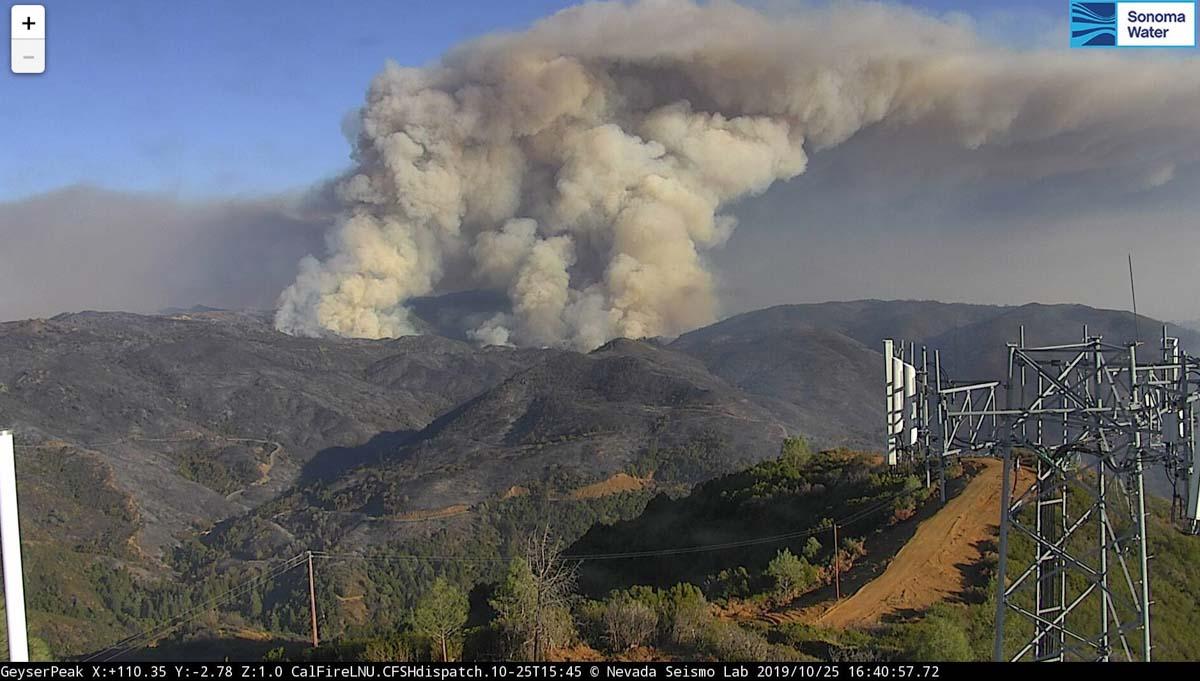 Kincade Fire forces evacuation of Geyserville, California