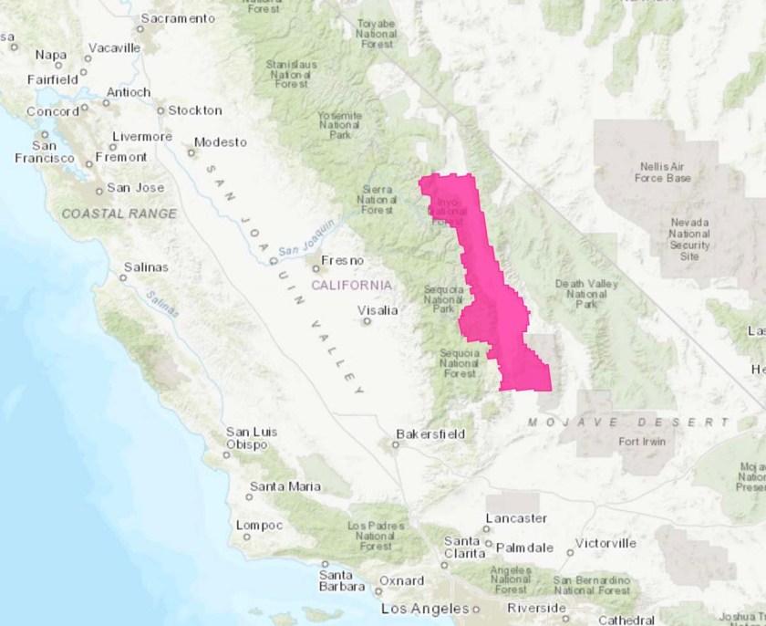 Red Flag Warning Sierras