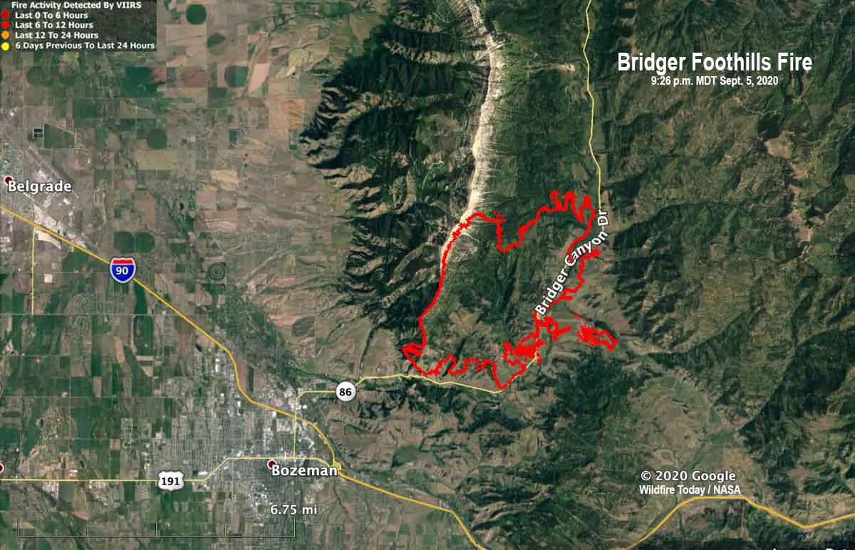 View a map showing current fire restrictions in across montana. Firefighters Deploy Fire Shelters On A Wildfire Near Bozeman Montana Wildfire Today