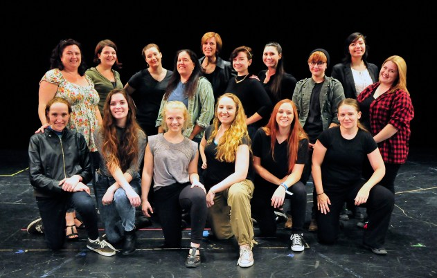 From left to right. Front Row: Sinead Kennedy, Samantha Hannum, Evelyn White, Julianna Hess, Kayla Willett, Christi Van Eyken. Back Row: Lori Ann DeLappe-Grondin, Denise Ivy, Danielle le Roux, Roberta Sanchez, Kathleen Poe, Nina Dramer, Shelby Saumier, Faye Taylor, Esmeralda Alvarez, Johnna Wood. Photo by Barry Wisdom.