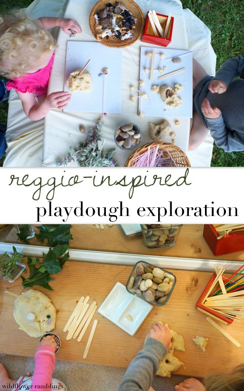 Reggio Inspired Playdough Exploration Wildflower Ramblings