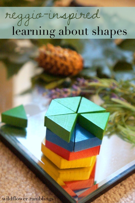 Reggio Inspired Learning About Shapes Wildflower Ramblings