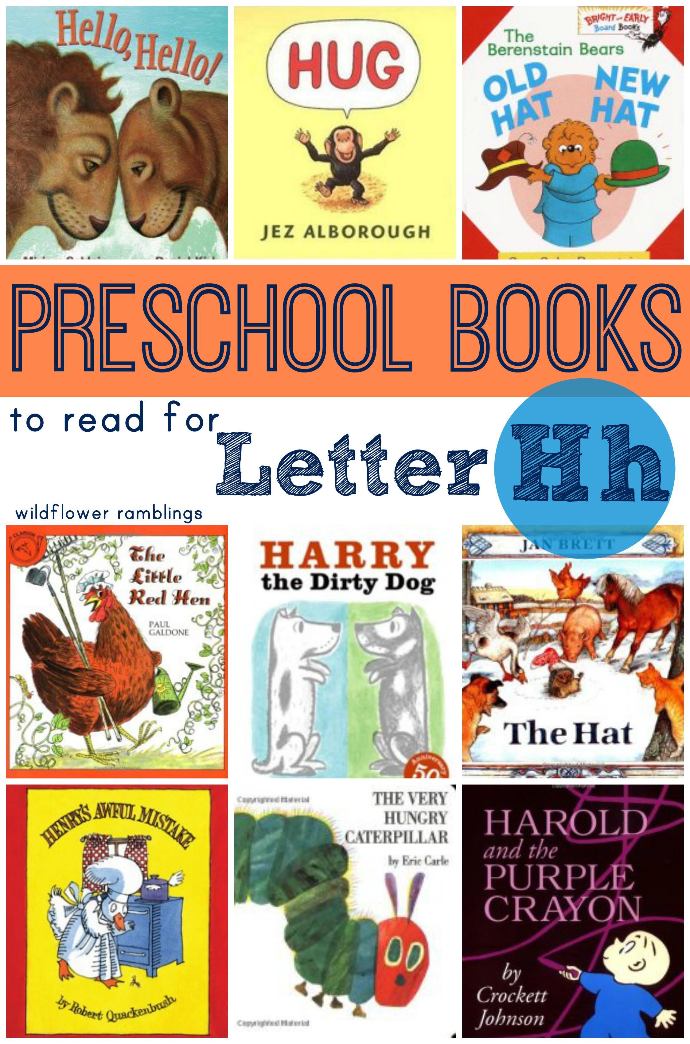 Preschool Books For The Letter H