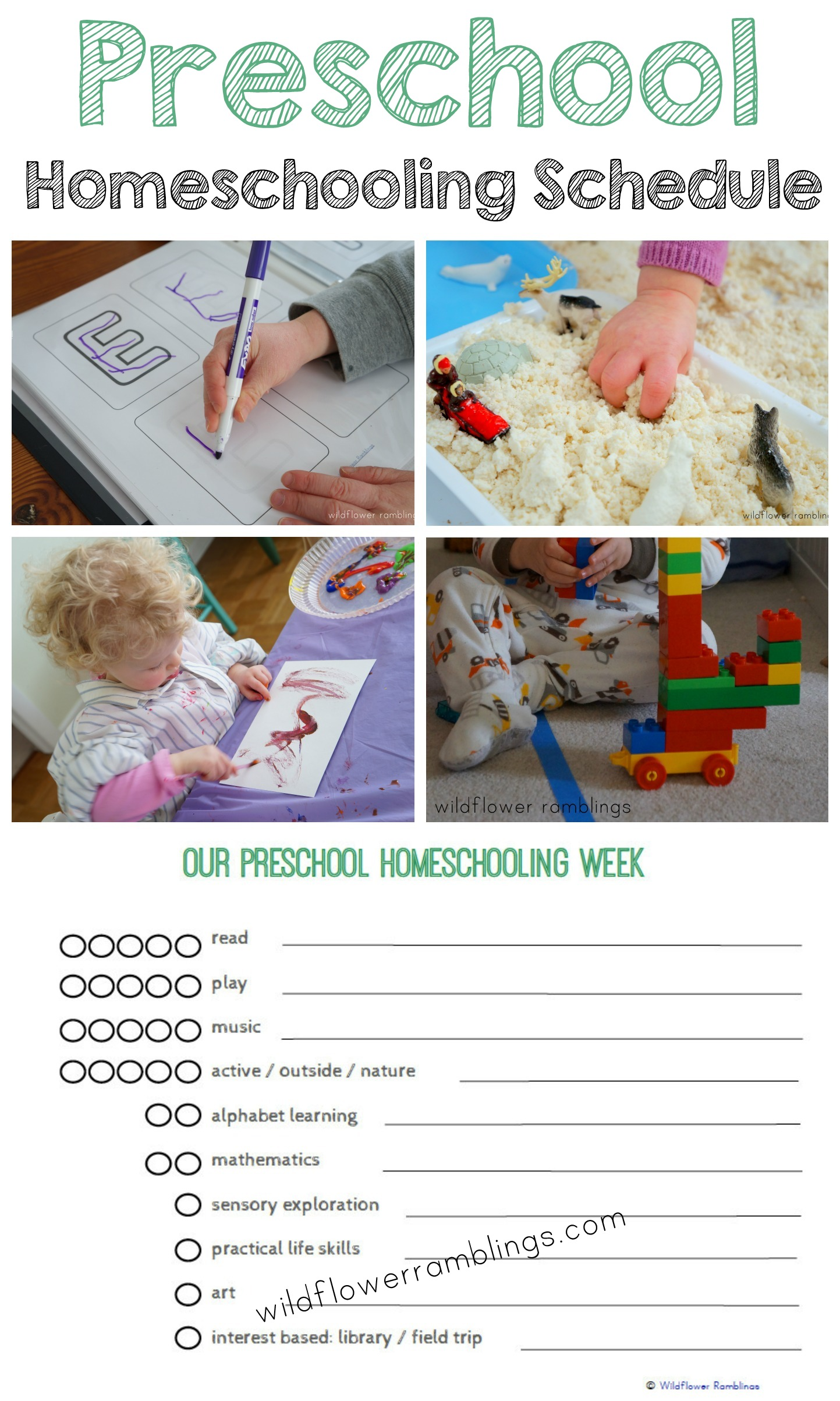 Preschool Homeschooling Schedule Free Printable
