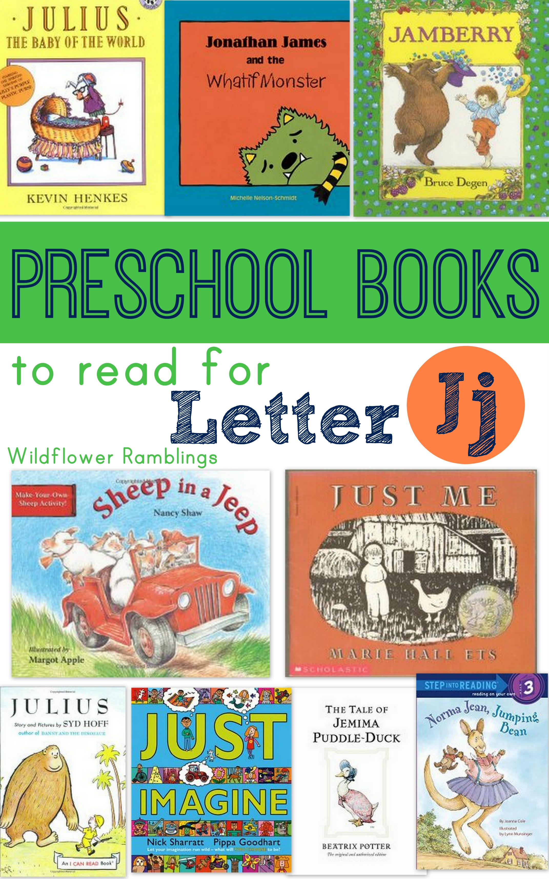Preschool Books For Letter J
