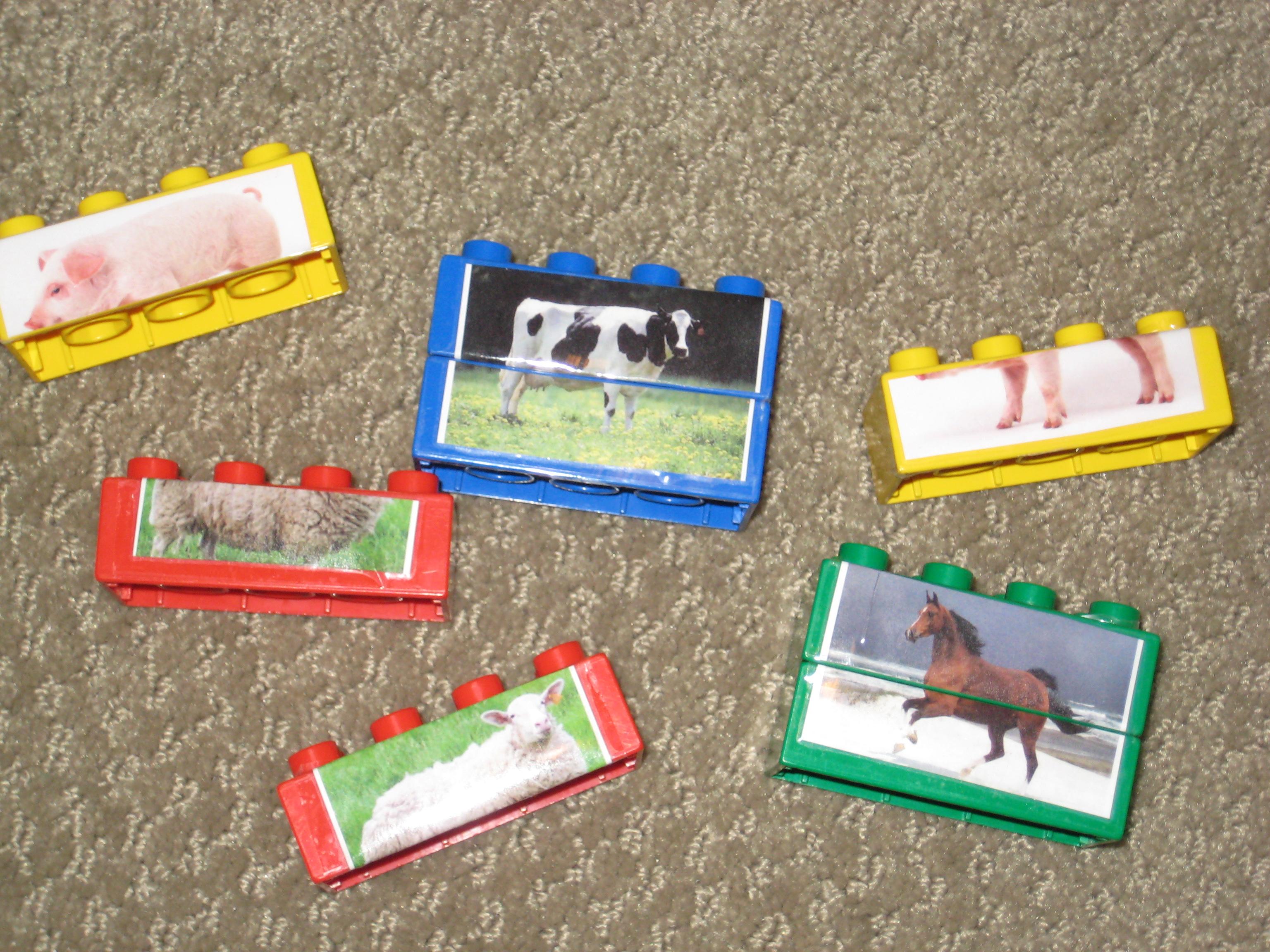 Lego Farm Animal Matching Game
