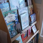 The February Picture book cart – see the old copies of Ladybug magazine there in the front-left of the display? Consider saving old copies of magazines (these are February issues from 2008, 2009), and then bring them out again in a few years for your younger children. They're new again!