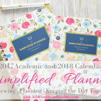 2017-18 Simplified Planner: Reviewing | Planning | Keeping the Day Together