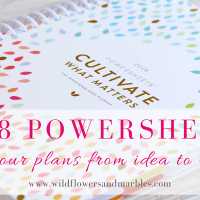 Powersheets Goal Planner - Walk Your Plans from Idea to Reality
