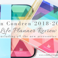 Erin Condren 2018-2019 Life Planner - Review of all the Newness