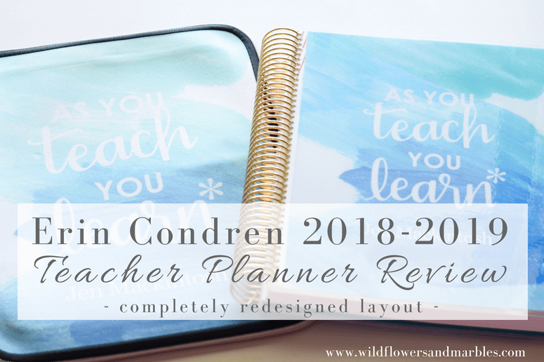 Erin Condren 2018-2019 Teacher Lesson Planner Review - Brand New Layout