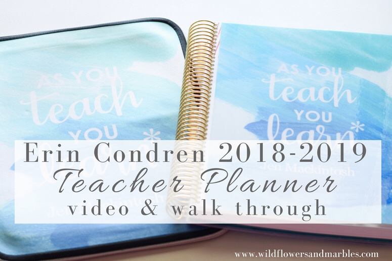 Erin Condren Teacher Planner 2018 - Video & Walk Through