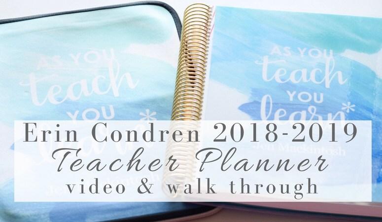 Erin Condren Teacher Planner 2018 – Video & Walk Through