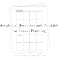 Educational Resources and Printables for Lesson Planning