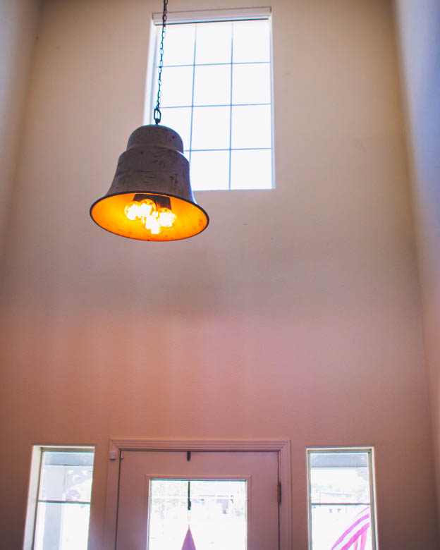 DIY entryway light fixture