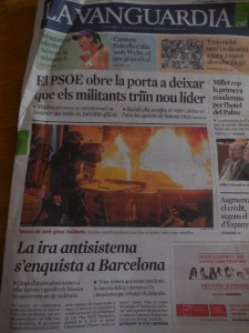 """Can Vies riots """"the anti-system/institutional anger takes over in Barcelona"""""""
