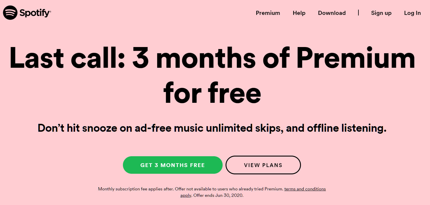 Spotify Free Trial 6 Months