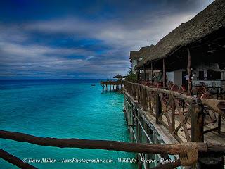 Having a drink at the Resort in Zanzibar