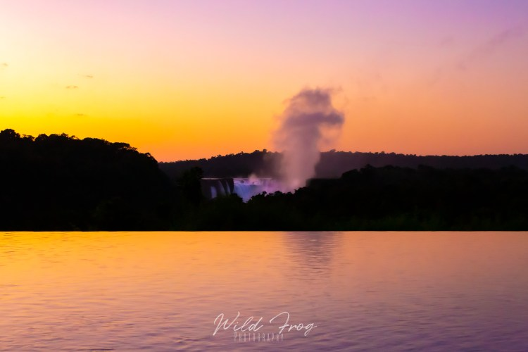 Sunrise at Iguazu Falls. Argentina
