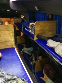Bunk beds on a night bus! :)