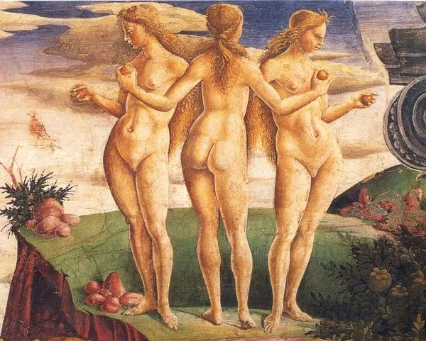 The Three Graces — naked women are powerful!