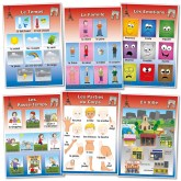 French Poster Vocabulary Set 2: Weather, Family, Feelings, Activities, Body, Town http://www.wildgoose.ac/product_p/fr0029.htm