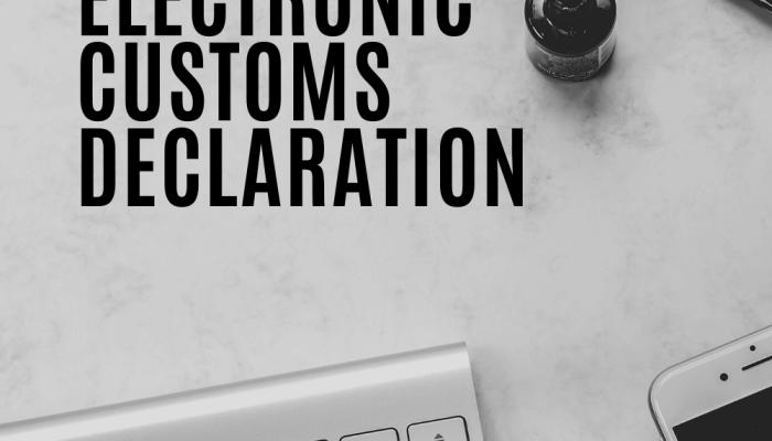 Bali Electronic Customs Declaration