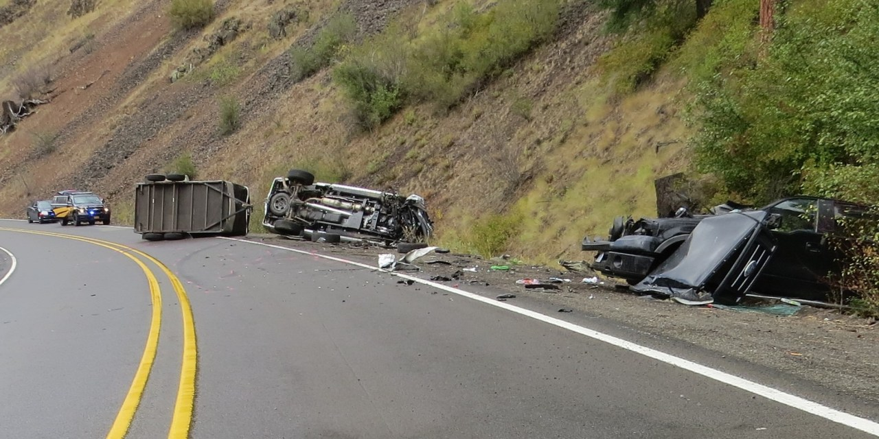 Three-Vehicle crash on State Route 82 in Wallowa County results in a fatality
