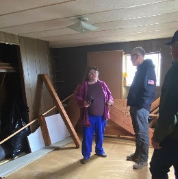 Rep. Walden tours a local resident's home.