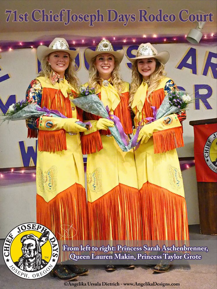From left to right: Princess Sarah Aschenbrenner, Queen Lauren Makin, Princess Taylor Grote