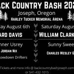 Back Country Bash TICKET SALES happening right now!!!