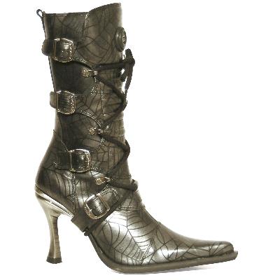 New Rock Boots 9373 araña acero malicia goma tacon salsa acero