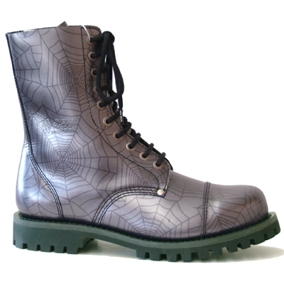 New Rock Boots Mili 1 Araña Lila Good Year Welt