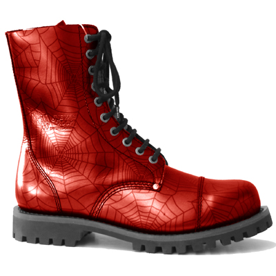 New Rock Boots Mili 1 Araña Roja Good Year Welt