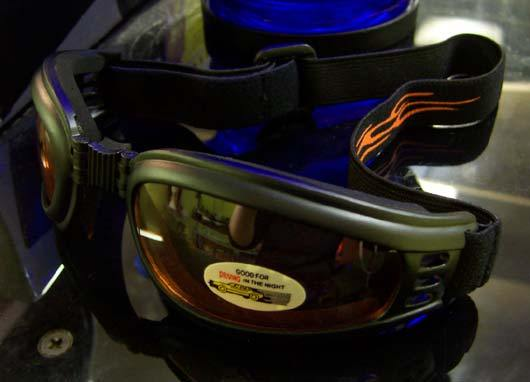 Narrow Frame folder goggles w/flame band