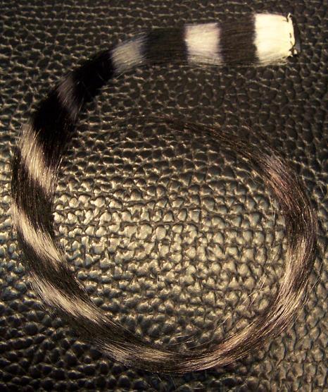 Clip In Human Hair Tiger / Zebra Stripe Streaks
