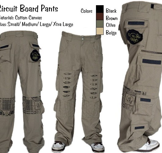 Random Mens Circuit Board Pants - BLACK