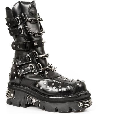 New Rock Boots 799 PULIK E ITALI NEGRO, REACTOR NEGRO E-14 TOBERAS