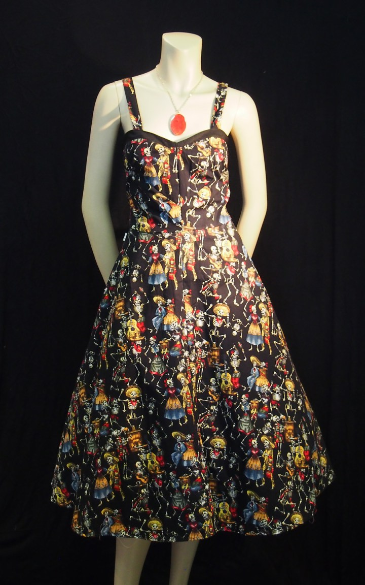 Rockabilly Day of the Dead Strap Dress