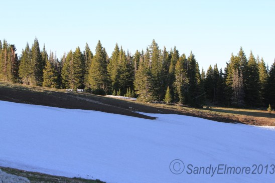Snow field above Krueger Pond